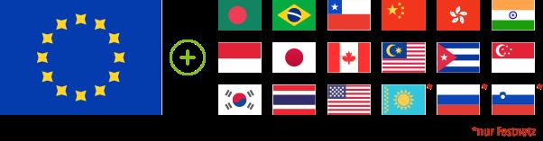Länder im Minutenpaket